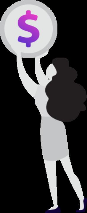 Icon (dolar and women)